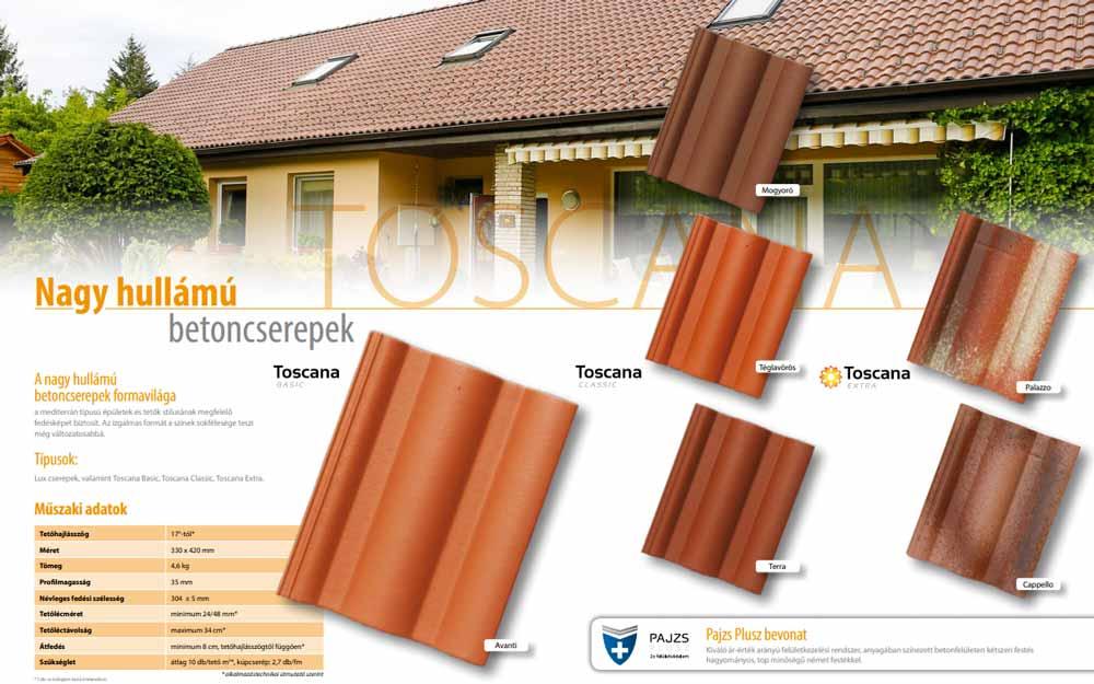 Leier Toscana tetőcserép