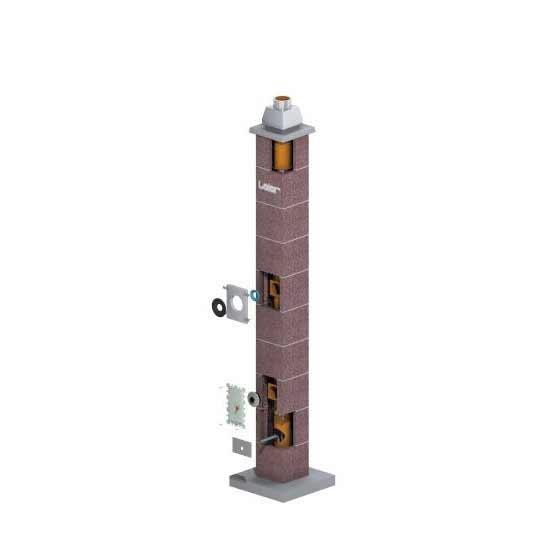 Leier MKL16 kémény - 8 m