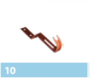 Leier kúpcserép rögzítő kapocs - barna