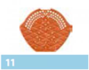 Leier kúpcserép véglezáró lemez, műanyag - barna