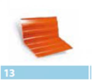 Leier alumínium vápaelem (hosszanti bordázattal) - téglavörös - 0,5 x 2 m