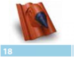 Leier szolár kivezető-egység - barna