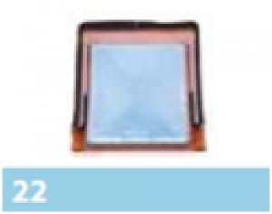 Leier tetőkibúvó ablak - barna - 480 x 550 mm