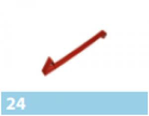 Leier hófogó elem, fém - vörös