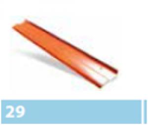 Leier kémény és falszegély léc - antracit - 1 m