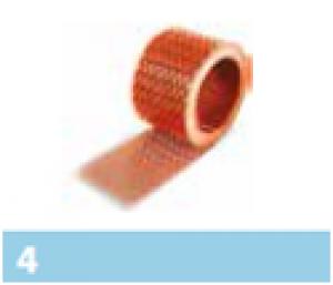 Leier szellőzőszalag - téglavörös - 5 m