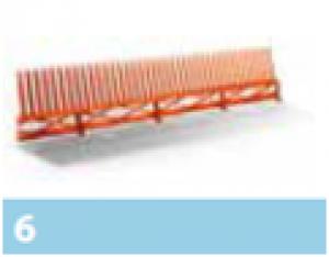 Leier lezárófésű szellőzőléccel - téglavörös - 1 m