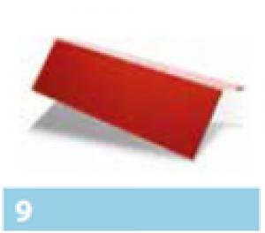 Leier páracseppentő ereszlemez - téglavörös - 1 m