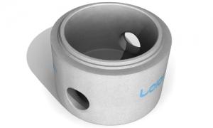 Leier AFE 100/100 L/G K  fenékelem gumigyűrűvel is építhető, künettel