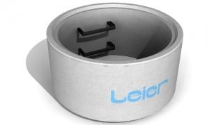 Leier AGY 100/100/9 L+H aknagyűrű csaphornyos illesztéssel, hágcsóval