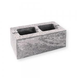 Leier Architektúra kerítéskő normál - feketemárvány - 40 x 20 x 20 cm