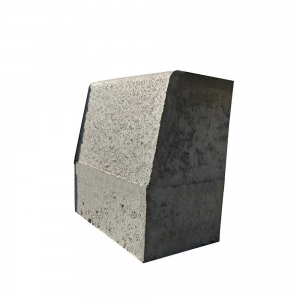 Leier  Quartz kiemelt útszegélykő - szürke - 24 x 15 / 12 x 30 cm