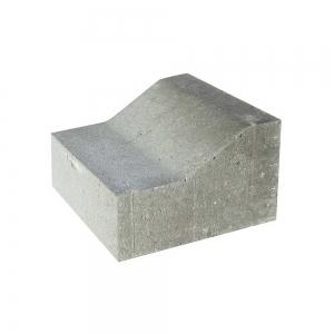 Leier K szegélykő - szürke - 25x15/10x25 cm
