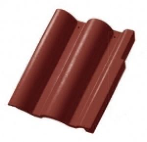 Leier Lux szegélycserép balos/jobbos - vörös