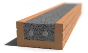 Leier MDA 300 előfeszített nyílásáthidaló kerámia köpennyel - 300 x 12 x 6,5 cm