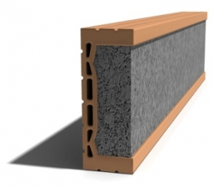 Leier MDE 125 előfeszített nyílásáthidaló kerámia köpennyel - 125 x 8 x 23,8 cm