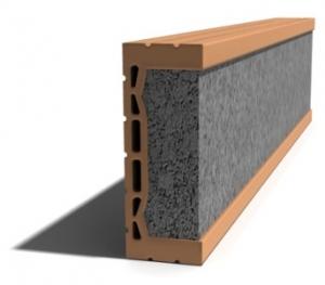 Leier MDE 150 előfeszített nyílásáthidaló kerámia köpennyel - 150 x 8 x 23,8 cm