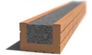 Leier MDVA 100 előfeszített nyílásáthidaló kerámia köpennyel válaszfalhoz - 100 x 9 x 6,5 cm